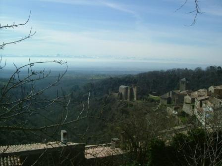 View from Saissac towards the Pyrenees
