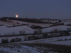 Pleine lune au Faget